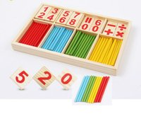 Wholesale early education - Wooden Montgomery early education explosion color digital rod counting bar, children's infant kindergarten teaching aids, wooden puzzle toys