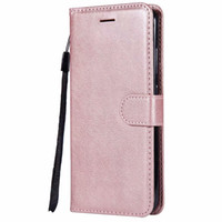 Wholesale xiaomi redmi note phone covers online – custom Wallet Case For Xiaomi Redmi Note A Flip back Cover Pure Color PU Leather Mobile Phone Bags Coque Fundas For Redmi Note A