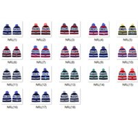 Wholesale nrl beanie hats for sale - Group buy 2019 NRL Rugby Teams STORM North Queensland Broncos Winter Cronulla Sharks Beanie Knitted Roosters Pom Beanies Winter Warm Caps