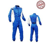 ropa de moto overoles al por mayor-2018 nuevo arrivel juego de carreras Club kart racing motocicleta montar ropa ejercicio monos de dos capas a prueba de agua venta caliente
