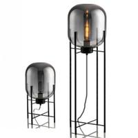 minimalist çalışma odası toptan satış-İskandinav cam dört zemin lambası oturma odası yatak odası post-modern minimalist retro çalışma masası lambası damla nakliye