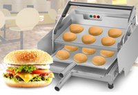 Wholesale electric frying fries - fried chicken shop electric hamburg machine commercial hamburg heating machine bun toaster hamburger machine