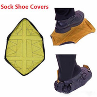Wholesale cleaning socks - Environmental protection repeatedly slippers Quick automatic shoe cover New home decoration Cleaning labor workers Step In Sock Shoe Covers