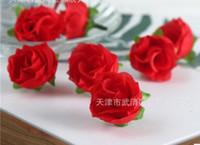 разноцветные розы оптовых-500 шт. Мини-розы глава искусственные цветы свадьба Рождество Олимпийские игры украшения дома многоцветный украшения ремесло 3.5 см