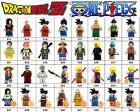 ejder blokları toptan satış-Wholsale Süper kahraman Mini Rakamlar Dragon Ball Goku TEK PARÇA Luffy Marvel Avengers DC Adalet Ligi Wonder woman yapı taşları çocuklar hediyeler