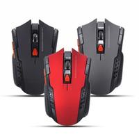 usb mouse al por mayor-Nuevo 2.4 Ghz Mini ratón óptico inalámbrico portátil 2000 DPI Juego USB ajustable Ratón de juego profesional Ratones para PC portátil # 244