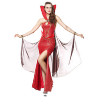 Wholesale women costume long chain for sale - Sexy Cosplay Costumes Red Stage Performance Cleopatra s Long Skirt Women Backless Chain Fancy Glamorous Skirt Halloween Holiday Party