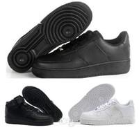 cut shoes al por mayor-2018 nuevo estilo Casual New Forces White negro Low High Cut Mens Women exterior zapatos para caminar Zapatos de hombre clásico