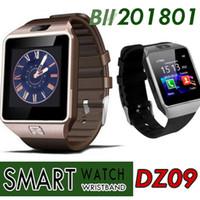 сотовый телефон часы android оптовых-100X martwatch 2018 Последние DZ09 Bluetooth Smart Watch Поддержка SIM-карты для Apple, Samsung IOS Android Сотовый телефон 1,56-дюймовый SmartWatches DHL