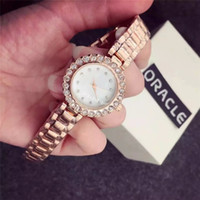 Wholesale Shockproof Watches - New Women's Luxury Wristwatches Diamond Gold Casual Party Watch Waterproof Shockproof Stainless Steel Female Quartz Watch