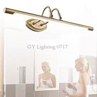 Wholesale Headlight Switch Knob - AC 110V 220V 230V 240V long 22cm to wall Bronze European minimalist bathroom mirror cabinet light Vintage retro Kitchen headlights