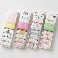 Wholesale infant socks wholesale - Baby Socks Set New Infant Toddler Girl Boy Children Short Socks Cotton 0-12 Years for Spring Autumn 4 Pair Lot B11