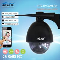 Wholesale wireless ip auto camera for sale - ZILNK Speed Dome Camera PTZ Mini IP Camera P HD X Zoom Auto Focus mm Outdoor Wireless Wifi IR Onvif SD Card
