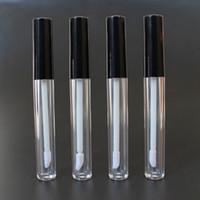dudak tıkaçları toptan satış-3 ML ML Boş Dudak Parlatıcısı Konteynerler Şişe Kozmetik Konteyner Tüp W / Fiş Siyah Kap Için Dudak Örnekleri Seyahat Bölünmüş Şarj DIY Makyaj