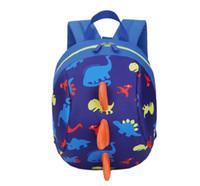 arneses al por mayor-Mochila del bolso de la correa del arnés de seguridad del dinosaurio de los niños del bebé de la historieta con las riendas