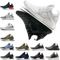 camo zapatos para correr al por mayor-XR1 Zapatos para correr Primeknit OG Camo Mastermind Japón Verde oliva Negro Blanco Gris Azul marino Hombres Mujeres Entrenador Zapatillas deportivas Tamaño 36-45