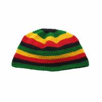 Reggae Rasta Roots Africa Rastafari Giamaica Bob Marley Cappelli invernali  caldi cappelli fatti a mano all uncinetto Caps Berretti 06114ed02db0