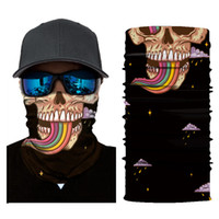 Wholesale neck scarves for women - 3D Seamless Cotton Bandana Fashion Joker Headscarf Bicycle Protection Scarf Halloween Skull Neck Face Mask Gift For Men 8ft hh