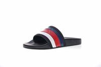 ingrosso passeggiate in spiaggia-2018 Nuovo Designer Tiger Slide Top Pantofole da passeggio Donna Uomo Sandali da spiaggia Scarpe di lusso Moda casual Slides Infradito Pantofola 35-44