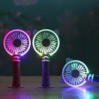 Wholesale mini rechargable battery for sale - Group buy New Summer Fashion Gift USB Fan Rechargable Battery Air Fan Cooling Led Mini Fan Q0575