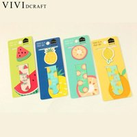 Wholesale ice cream stationery - Vividcraft School Supplies Kawaii Cute Fruit Ice Cream Magnetic Bookmarks Books Marker of Page Stationery Student Rewarding