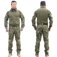 Wholesale woodland uniform online - NEW Emerson Gen2 Combat uniform Tactical gear shirt and pants Army BDU set Marpat Woodland Gun Party Supplies