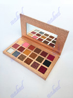 private label Color cosmetics matte&shimmer makeup cosmetic eye shadow 18 color eyeshadow palette no logo pack design