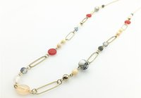 Wholesale Long Beaded Necklace Designs - LONG BEADED NECKLACE STATION NECKLACE GIFT STYLE NECKLACE FOR FAMALE ON WHOLESALE UNDER SPECIAL DESIGN WITH MIXED BEADS