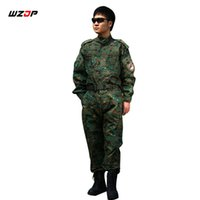traje de hombre uniforme del ejército al por mayor-WZJP Army Tactical Uniform Shirt + Pants Jungle Digital Combat Uniforme US Army Ropa para hombre Traje de caza