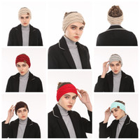 Wholesale Crochet Women Headbands Wholesale - CC Hairband Women Crochet Headband Knit Hairband Warmer Winter Head Wrap Fashion Headwrap Ear Warmer Headwear KKA3969