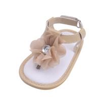 beşik markaları toptan satış-Erkek bebek kız beşik ayakkabı yenidoğan marka ayakkabı Yaz tuval kaymaz Prewalker Kanca Döngü bebek Mavi yumuşak taban 2018 Satış