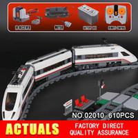 Wholesale high speed truck - LEPIN 02010 610Pcs Creator Series The High-speed Passenger Train Building Remote-control Trucks Set Blocks Bricks Toys 60051