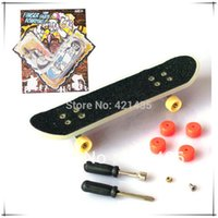 Wholesale Fingers Blisters - 74L-38 Free shipping Creative children's toys boys birthday gift Blister card mini finger skateboard set with tools Variety
