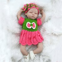 Wholesale Newborn Clothes China - Kid Playmate Closed Eyes Reborn Baby Doll 45cm 17 inch Babies Kids Toys Girl Juguetes For Children Gift Photgraph with Clothes