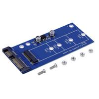 adaptador mini sata ssd venda por atacado-Freeshipping serial SSDs SATA3 mSATA MINI PCI-E SSD sata adaptador adaptador de cartão de expansão SATA para NGFF Atacado