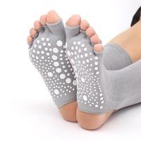 дамы носки пальцы оптовых-Pampa  Women Yoga Socks 2018 New Arrival Ladies Non Slip Open Toe Open Feet Finger Cotton Yoga Socks Pilates Dance Fitness