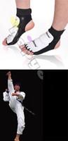 Wholesale taekwondo gears - free ship 1pair NEW muay WTF Taekwondo Sanshou Nursing ankle fighting feet ankle protector protective gear foot protection foot cover