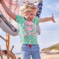 camisas de bebé patrones de animales al por mayor-100% algodón verde patrón camiseta vestido bebé camisetas niñas camiseta niños estilo clásico algodón animal sólido 18 meses 2 3 4 5 6 años al por mayor