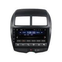 rádio bluetooth mitsubishi venda por atacado-Leitor de DVD Carro para MITSUBISHI ASX 2010-2012 10.1 polegada Andriod 6.0 com GPS, rádio, Bluetooth, controle de volante