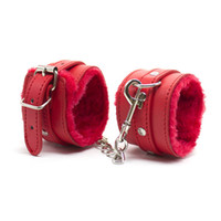 Wholesale bdsm hand for sale - Group buy Red Black pink PU Leather BDSM SM Bondage Sexy Restraints Fuzzy Furry Hand Wrist Cuffs Soft Plush Handcuffs Sex Toys