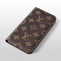 Wholesale iphone card case online - Luxury Brand Phone Case for Iphone XS Max XR Leather Wallet Phone Cover for iPhone P P s plus Candy Color Protective
