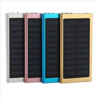 Wholesale solar power bank iphone for sale - Group buy Ultra Thin Slim Solar Power Bank mah Dual Usb Emergency Mobile Charger Solar Powerbank Universal for Iphone Samsung with Retail Box