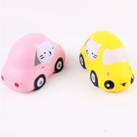 Wholesale Cars Cartoon Games - Squishy New Style Cartoon Smile Squeeze Simulation Car Squishies Kids Adults Novelty Games Toy Jumbo Immitate Bread Soft Cake Bun 16 5mj Z