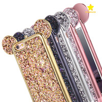 Wholesale Plus Red Roses - Bling Paillettes iPhone X TPU Case Cover Glitter Shell TPU Case for iPhone 8 Plus iPhone 6S 7 Plus Samsung S8 Plus