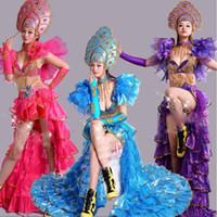 sahne aşınma sutyen toptan satış-Oryantal Dans Kostüm Set Sutyen Üst Etek kadın seksi Mısır Kıyafet Hollywood Rio Karnaval Sahne Performansı giyim Oryantal Dans Giyim