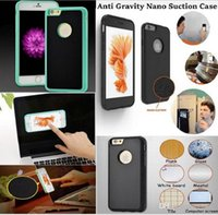 Wholesale Iphone Fall Case - Anti-gravity nano-adsorption magic phone shell 6s   7s   7plus   Note7 anti-fall self-protection cover