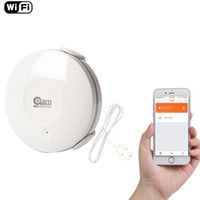 Wholesale water alarm detector - Smart Water Sensor WiFi , Water Flood Wi-Fi and Leak Detector Alarm Sensor and App Notification Alerts, No Hub Operated