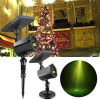 Wholesale outdoor laser lights online - Solar LED Laser Projector Lamp Outdoor Christmas Party Lawn Lights Festival Spotlight Fairy Lights Starry Garden Laser Lamp