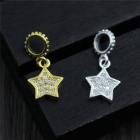 Wholesale Handmade Diamond Necklace - designer jewelry fashion 925 sterling silver charms beads Diy handmade jewelry accessories diamond pentagram bracelet pendant necklace star