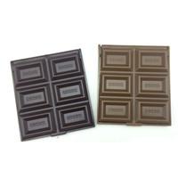 ingrosso cioccolato per natale-100pcs 6 scanalature dolce cioccolato a forma di specchio trucco compatto regalo di natale trucco cosmetico tasca specchio WA0524